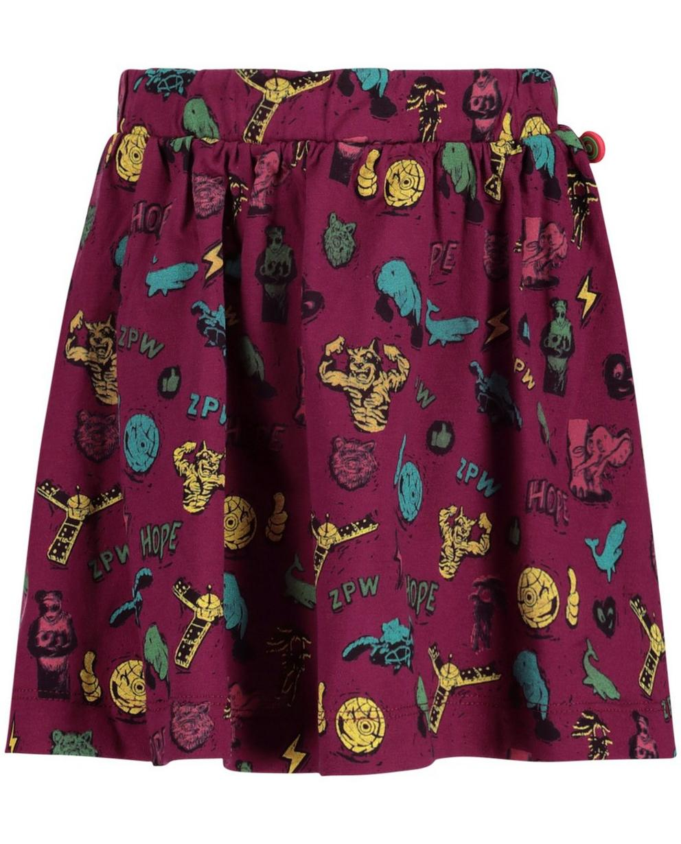Shorts - assortment - Purperen rok met print